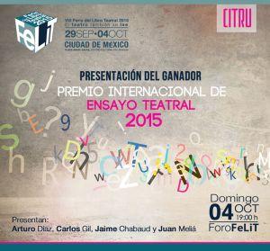 Premio Internacional de  Ensayo Teatral 2015