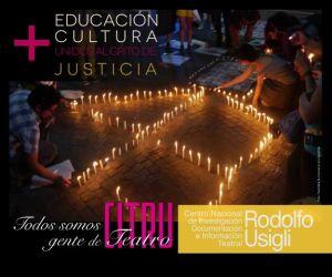 Educación Cultural unidos al grito de justicia
