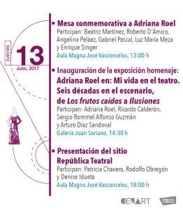 Mesa conmemorativa a Adriana Roel | Inauguració de exposición